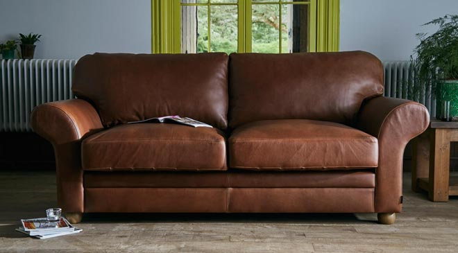 leather couches by Indigo