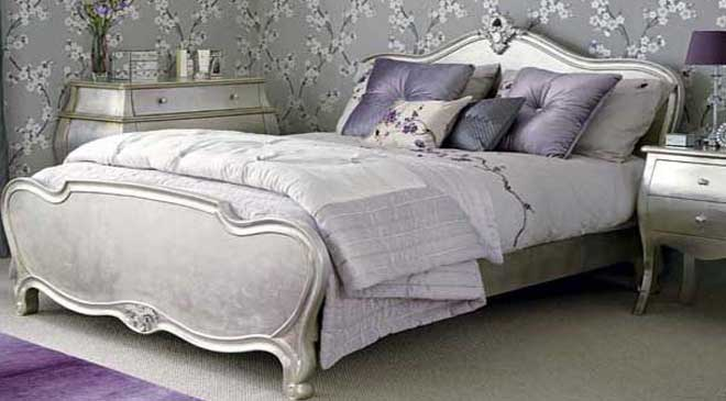 silver bedroom decor